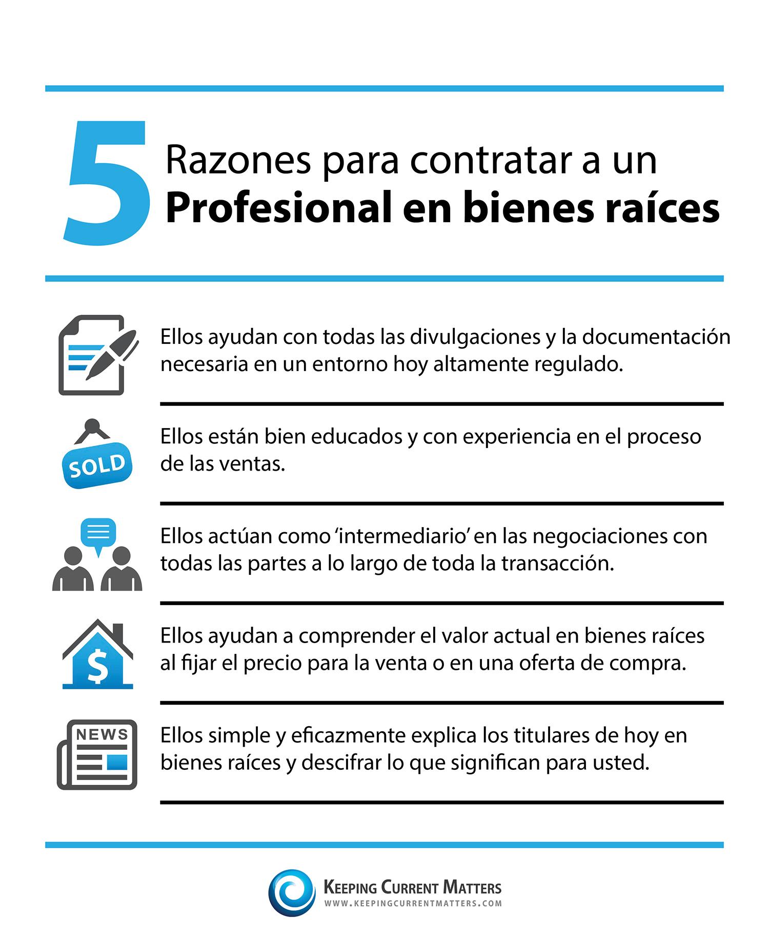 5 Razones para contrar a un Profesional en bienes raíces | Keeping Current Matters