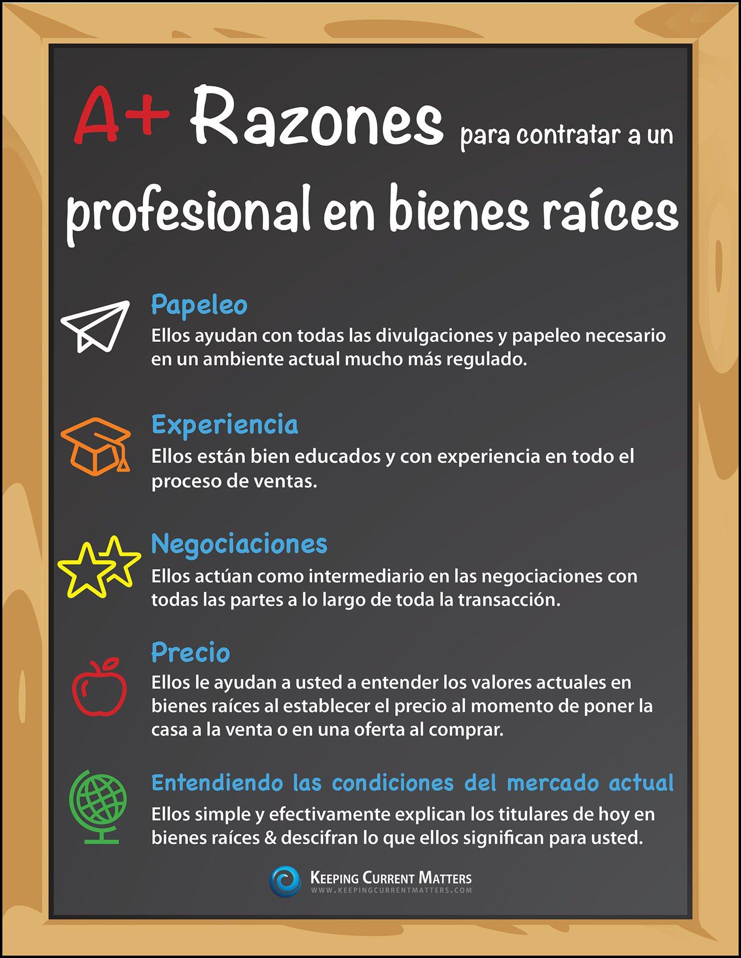 Razones A+ para contratar un profesional en bienes raíces [INFOGRAFíA] | Keeping Current Matters